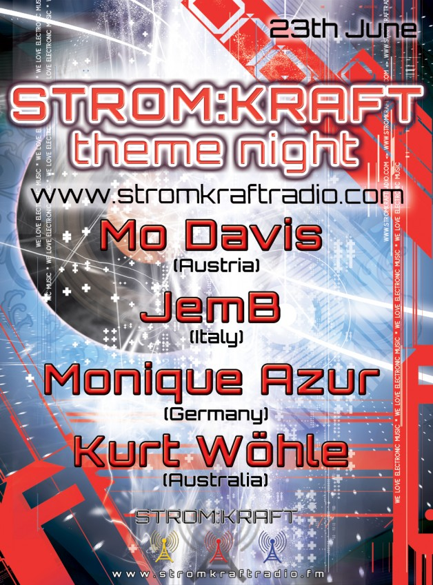 Sunday 23th Jun. 7.00pm – STROM:KRAFT pres theme night exclusive Radio Show