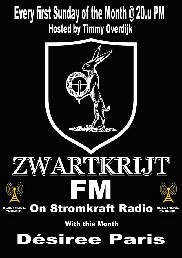 1st Sunday – 8.00pm (CET) – STROM:KRAFT presents ZWARTKRIJT exclusive Radio Show by Tim Overdijk (NL)