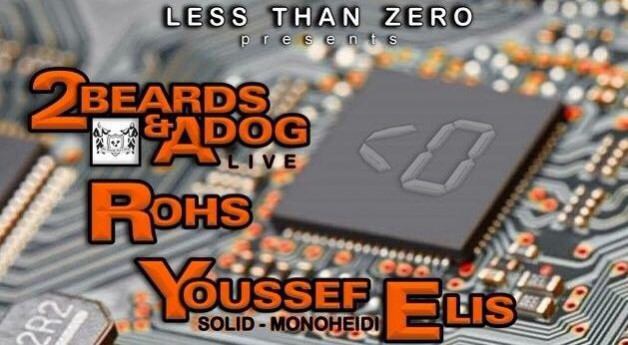 Saturday May 7th 09.00pm CET &#8211; Less Than Zero <0 (Live from Oefenbunker Landgraaf, NL)