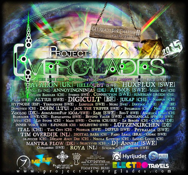 Saturday August 29th 06.00pm CET – Project Everglades Festival 2015, Sweden ( Live)