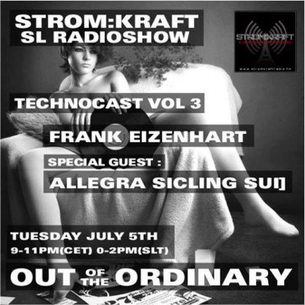 Tuesday July 5th 9.00pm CET [0.00pm SLT] – Second Life's OUT OF THE ORDINARY RADIO #03 – Frank Eizenhart (USA)