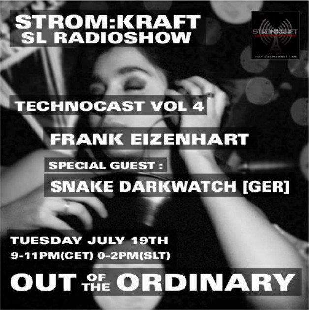 Tuesday July 19th 9.00pm CET [0.00pm SLT] – Second Life's OUT OF THE ORDINARY RADIO #04 – Frank Eizenhart (USA)