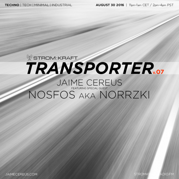 Tuesday August 30th 11.00pm CET [2.00pm SLT] – Second Life's TRANSPORTER RADIO #07 – Jaime Cereus (USA)