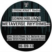 Tuesday September 13th 07.00pm CET [10.00am SLT] – Second Life's METAVERSE RHYTHMS RADIO #08 – Sandro Sonnenblum (GER)