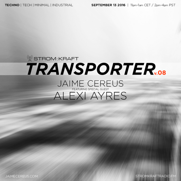 Tuesday September 13th 11.00pm CET [2.00pm SLT] – Second Life's TRANSPORTER RADIO #08 – Jaime Cereus (USA)
