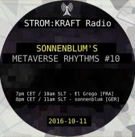Tuesday October 11th 07.00pm CET [10.00am SLT] – Second Life's METAVERSE RHYTHMS RADIO #10 – Sandro Sonnenblum (GER)