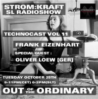 Tuesday October 25th 9.00pm CET [0.00pm SLT] – Second Life's OUT OF THE ORDINARY RADIO #11 – Frank Eizenhart (USA)