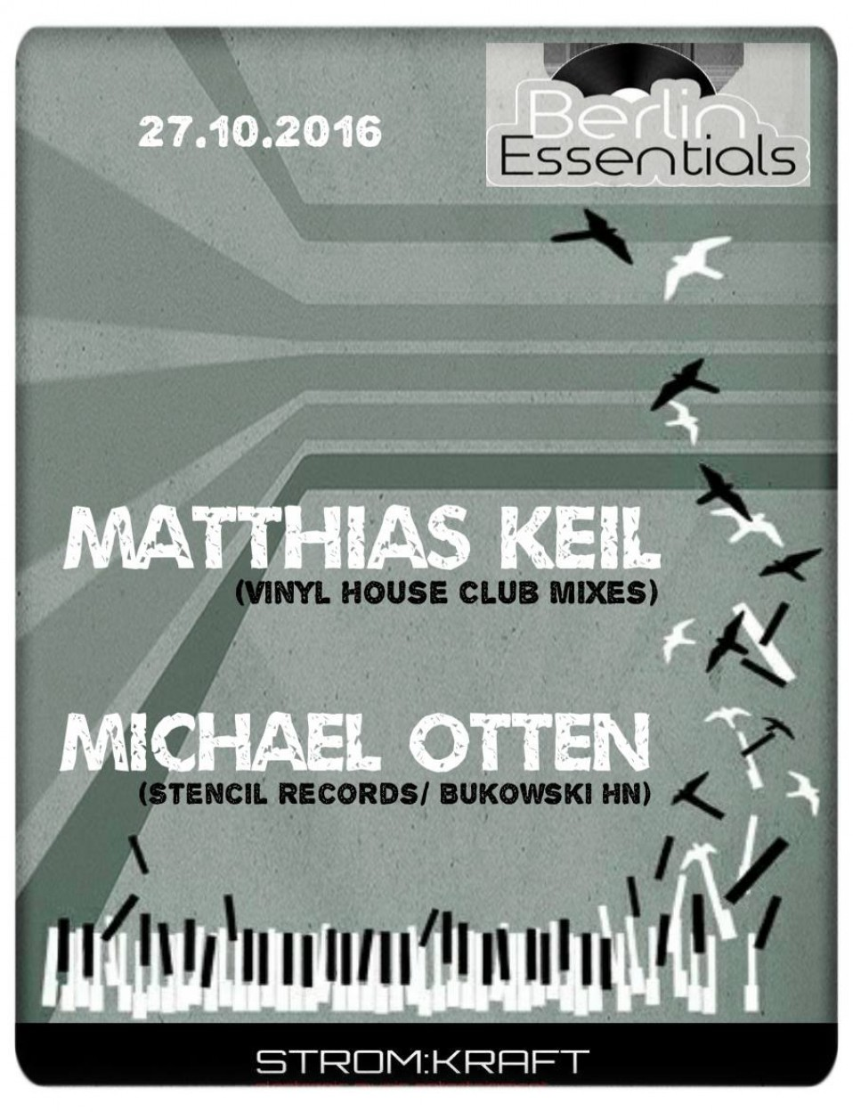 Thursday October 27th 08.00pm CET- Berlin Essentials Radio by Michael Otten ( Stencil Rec.)