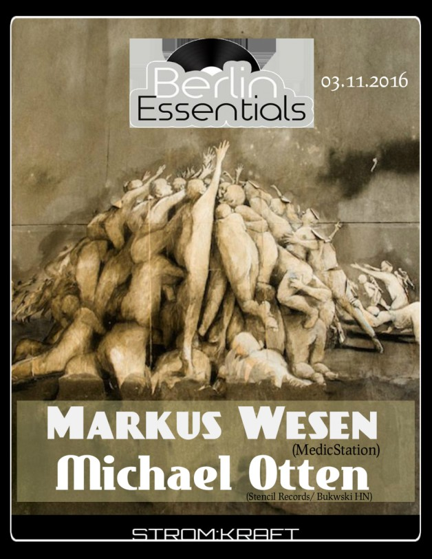Thursday November 3th 08.00pm CET- Berlin Essentials Radio by Michael Otten ( Stencil Rec.)