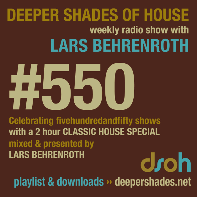 Sunday November 20th 05.00pm CET- Deeper Shades of House radio by Lars Behrenroth