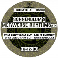 Tuesday December 6th 07.00pm CET [10.00am SLT] – Second Life's METAVERSE RHYTHMS RADIO  – Sandro Sonnenblum (GER)