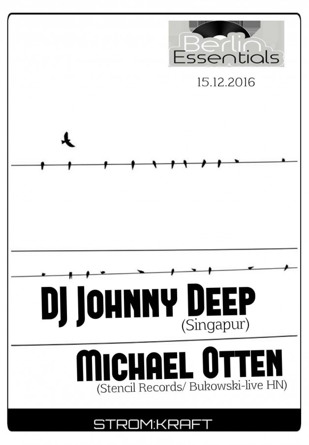 Thursday December 15th 08.00pm CET- Berlin Essentials Radio by Michael Otten ( Stencil Rec.)