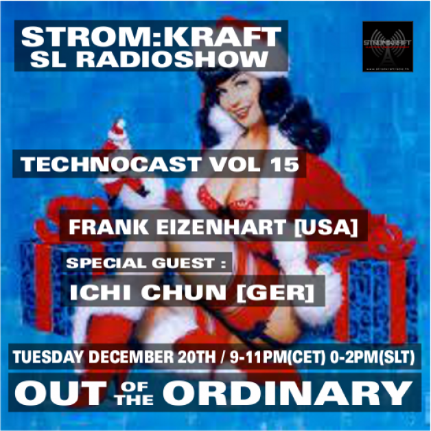 Tuesday December 20th 9.00pm CET [0.00pm SLT] – Second Life's OUT OF THE ORDINARY RADIO #15 – Frank Eizenhart (USA)