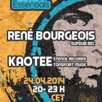 Thursday 24th Apr. 8.00pm (CET) – BERLIN ESSENTIALS exclusive Radio Show presents RENE BOURGEOIS and KAOTEE