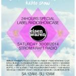 Saturday 30th Aug. 12.00pm (CET) – STROM:KRAFT and LA TERRAZA presents EISENWAREN Label Showcase exclusive Radio Show (24 hours)