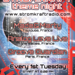 Tuesday 2nd Sep. 8.00pm (CET) – STROM:KRAFT Theme Night exclusive Radio Show pres. Made & Marty (France) – Analog Love Live (France) – Groove Guardian (France)