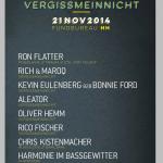 21. November – VERGISSMEINNICHT (Berlin) at FUNDBUREAU Hamburg mit RON FLATTER  – EVENT PROMO